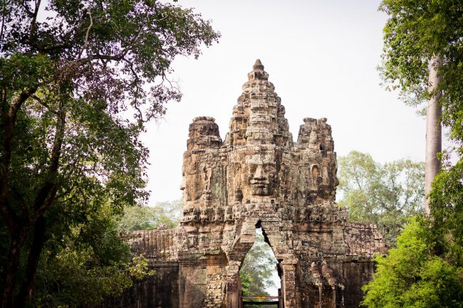 Gate at the Angkor complex in Siem Reap