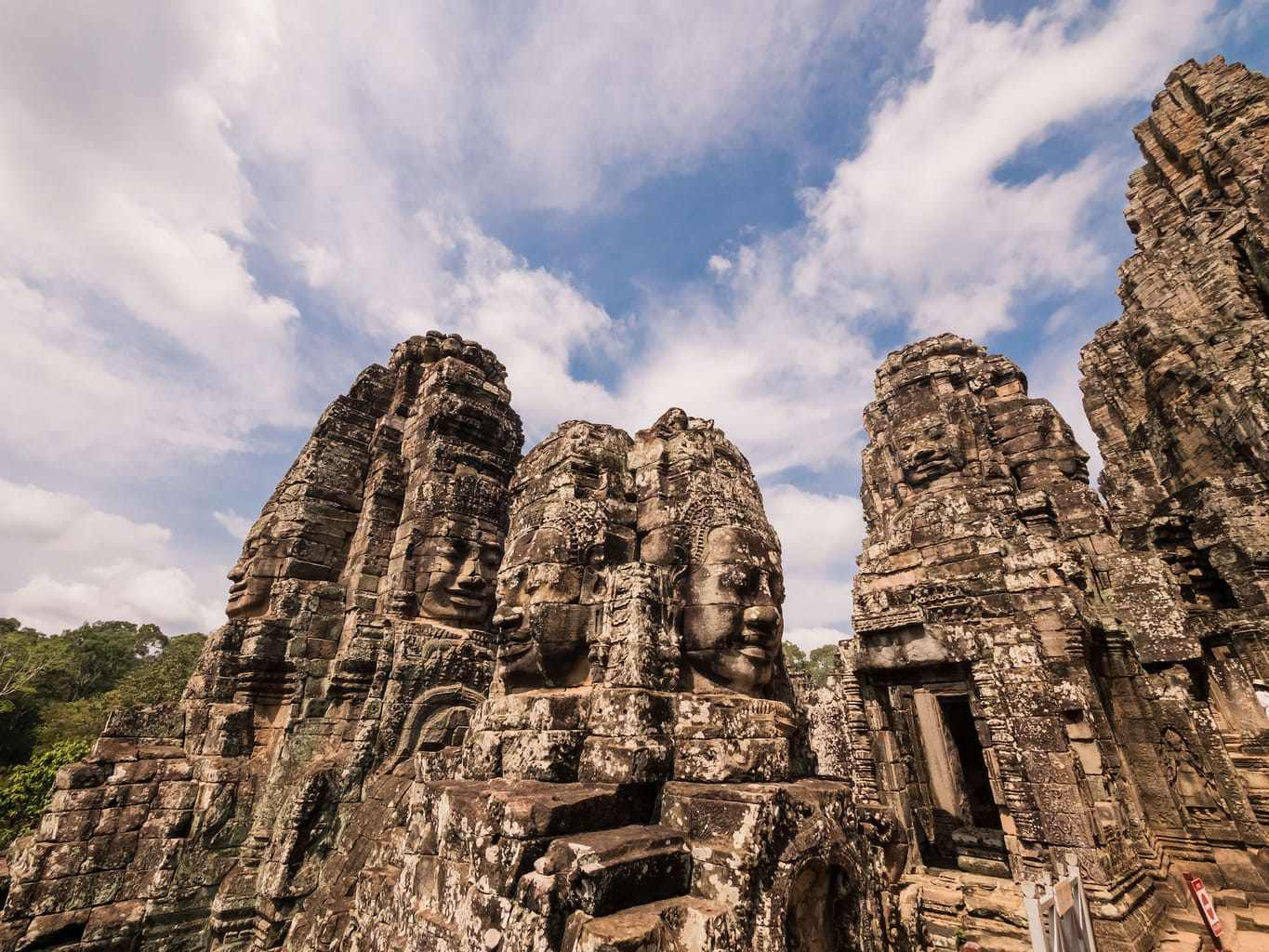 Some of the many smiling faces at the Bayon