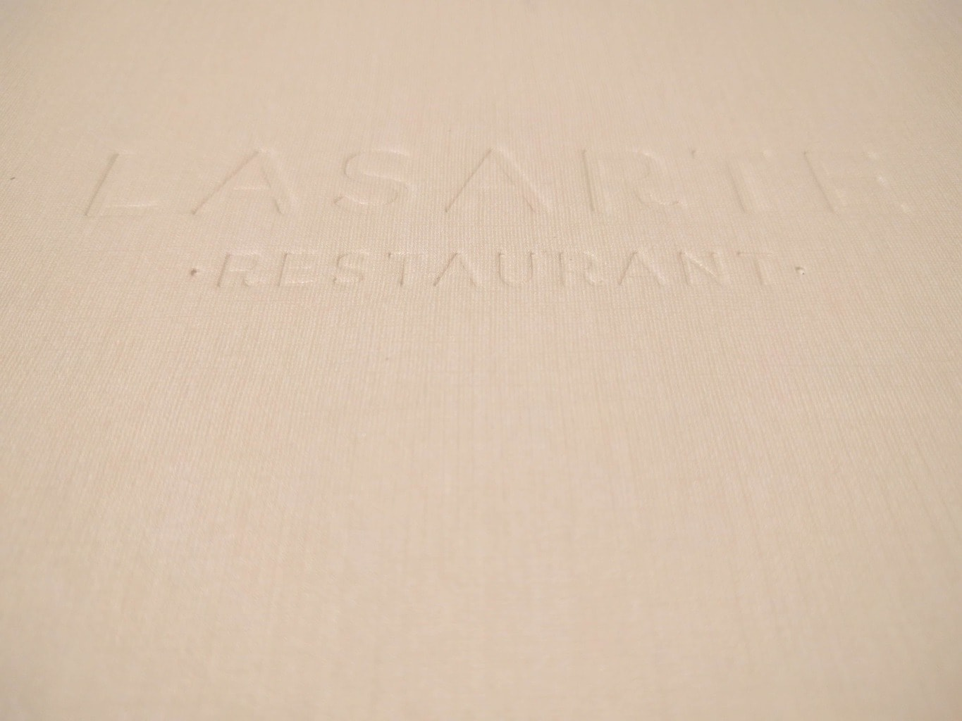 Review of Lasarte Menu
