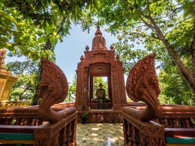 Naga and statue