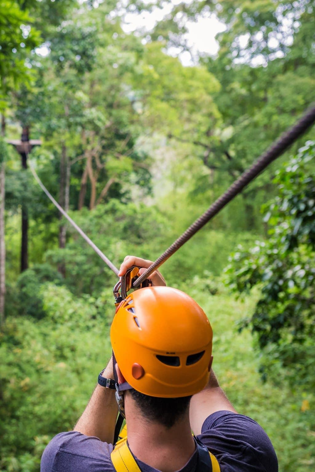 Bousra ziplining