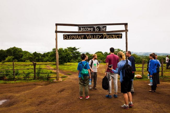 Arriving at the elephant sanctuary