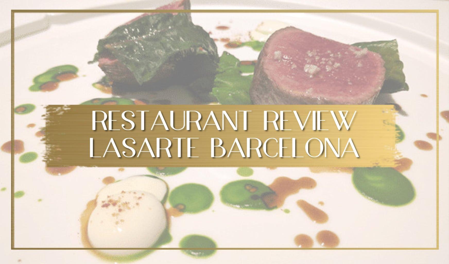 Review Lasarte Barcelona main