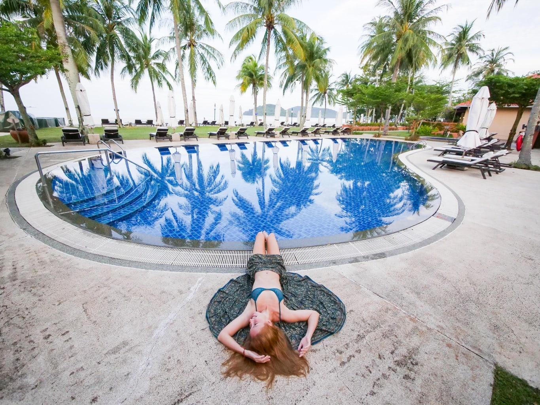 The seahorse pool at Casa Del Mar Langkawi