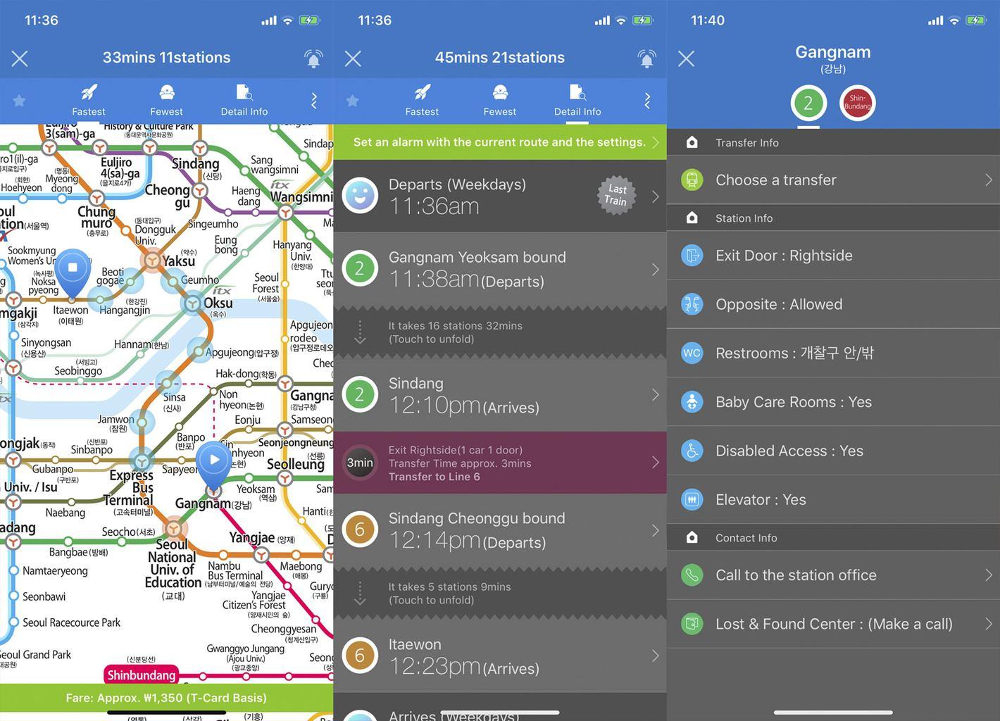Seoul Subway App