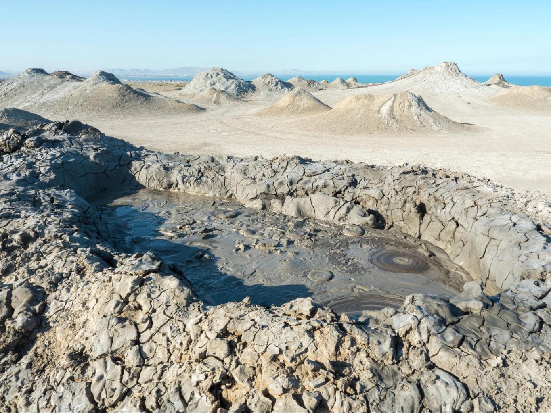 Mud baths in Azerbaijan