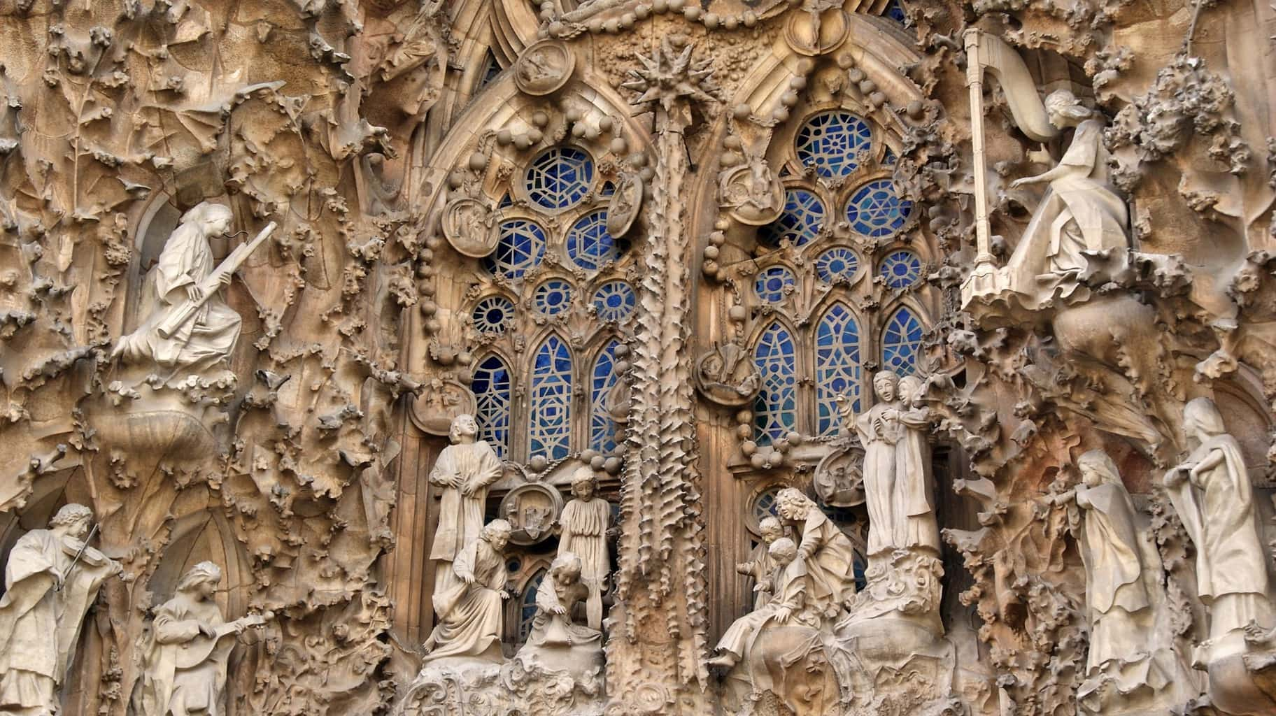Passion facade at Sagrada Familia