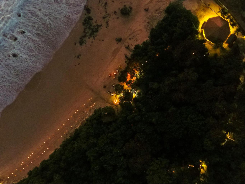 Aerial night scene