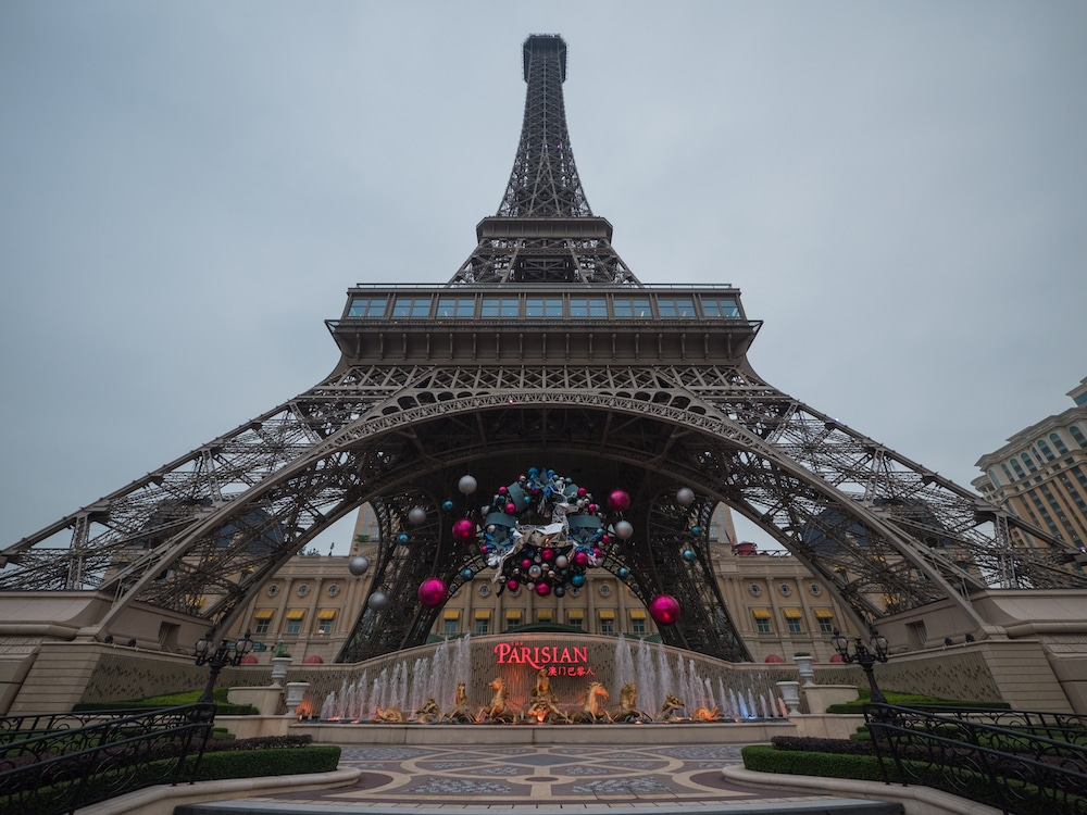 Feel like you're in Paris on your day trip to Macau at The Parisian Eiffel Tower