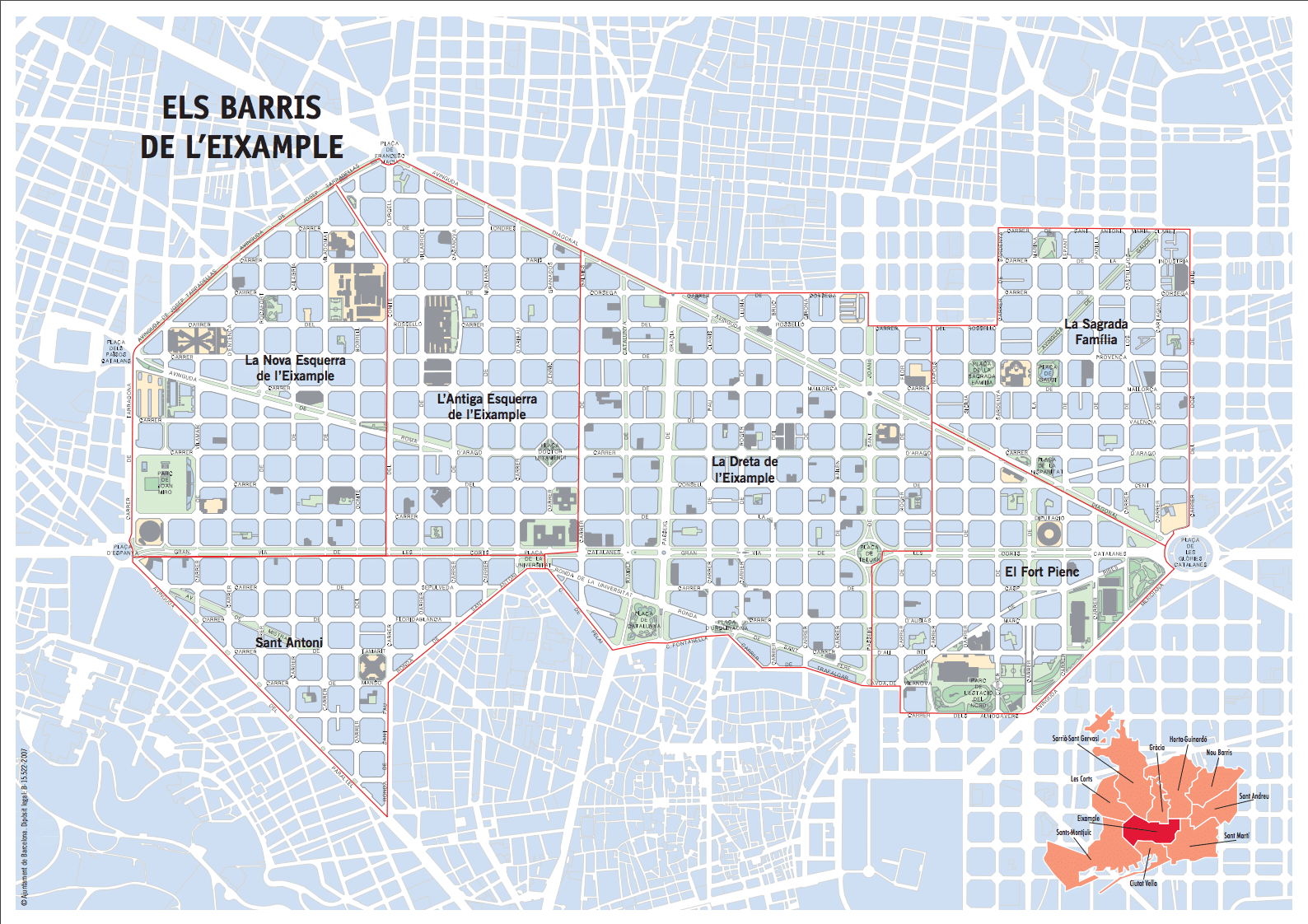 Eixample Map