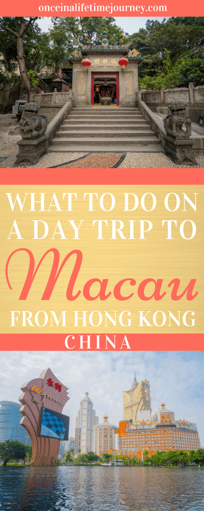 What to do on a Day Trip to Macau from Hong Kong