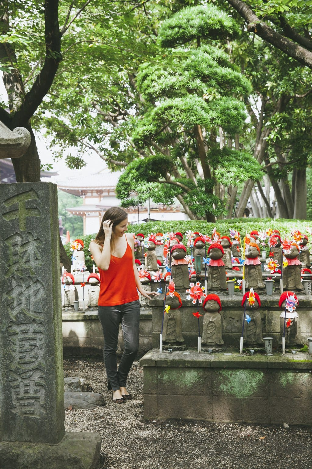 """The Garden of Unborn children in Zojoji Temple"""
