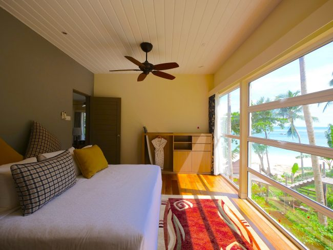 Sutera Sanctuary Bedroom Interior and window with beach