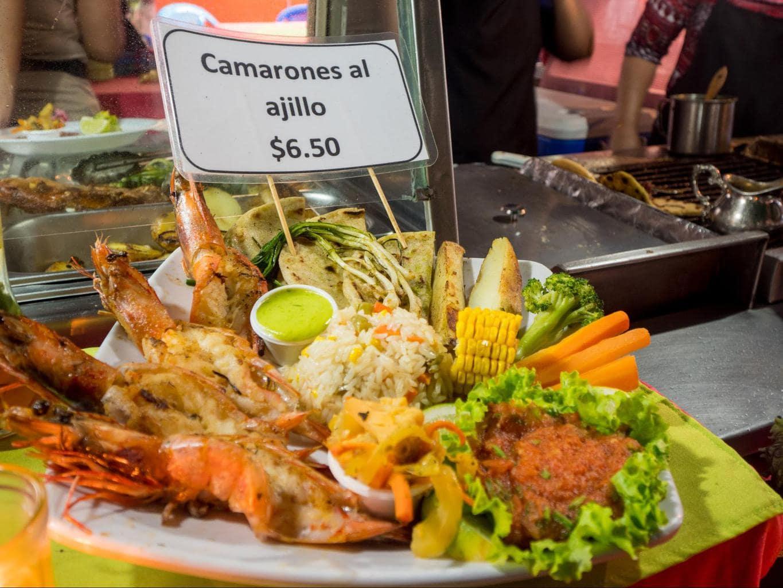 Food in Juayua on the Ruta de Las Flores