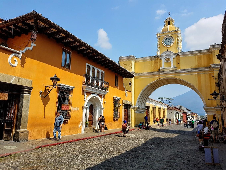 Cobblestoned streets in Antigua