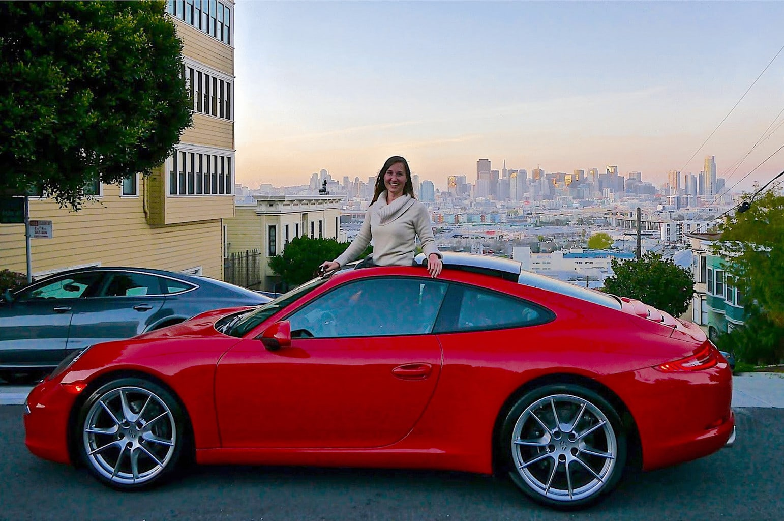 Me in my hot red Porsche