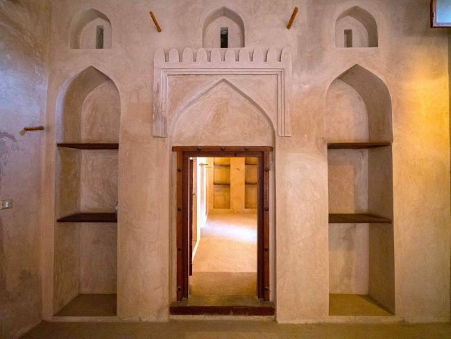 Bahla Fort Interior shapes