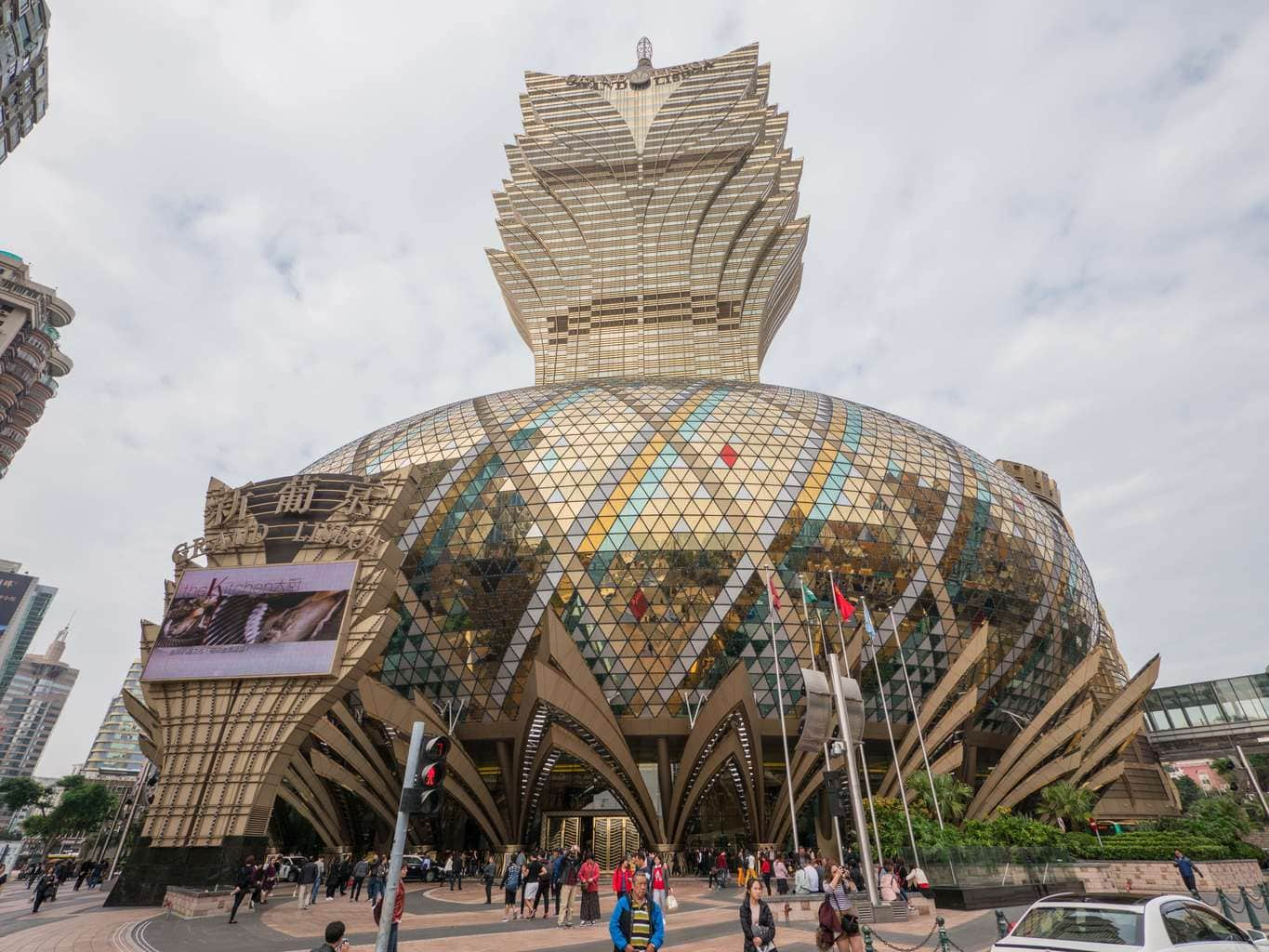 Grand Lisboa - a must visit on a day trip to Macau