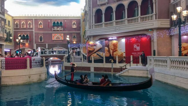 The Venetian Macau gondola