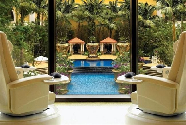 The Wynn Macau pool view