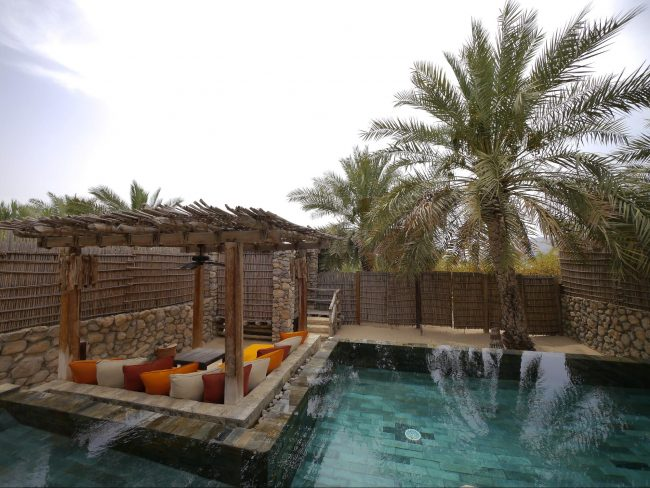 Private villa at Six Senses Zighy Bay