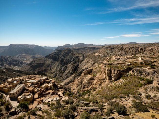 View of the mountain range