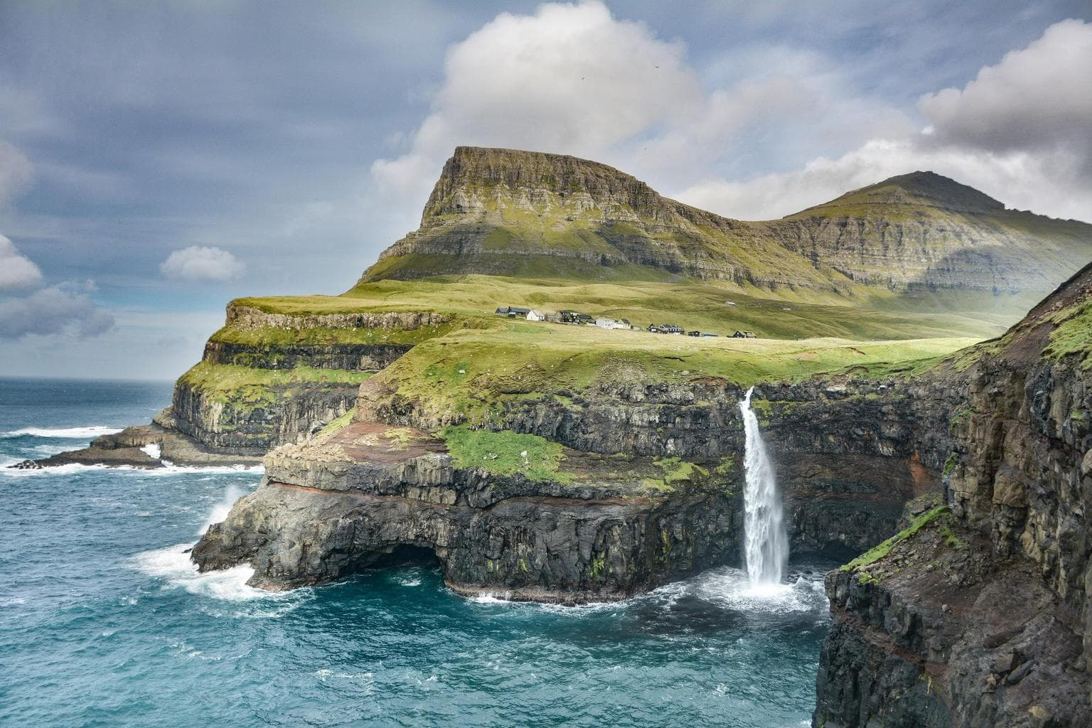 Faroe Islands in the summertime