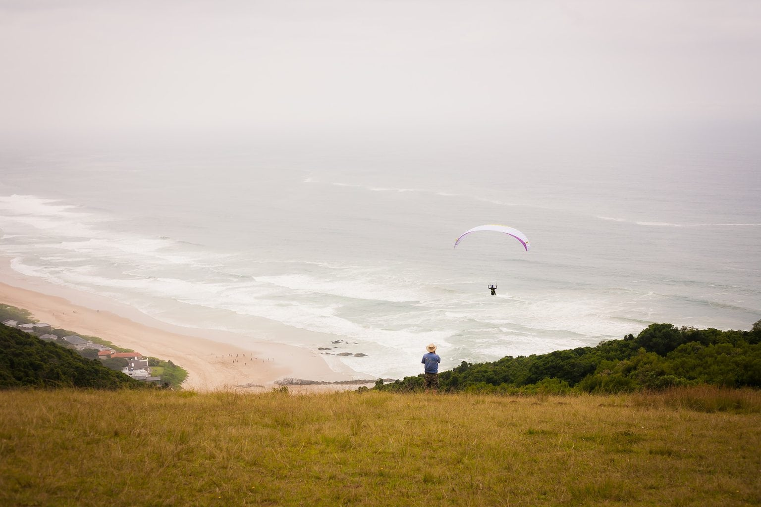 Paragliding base near the Map of Africa in the Wilderness