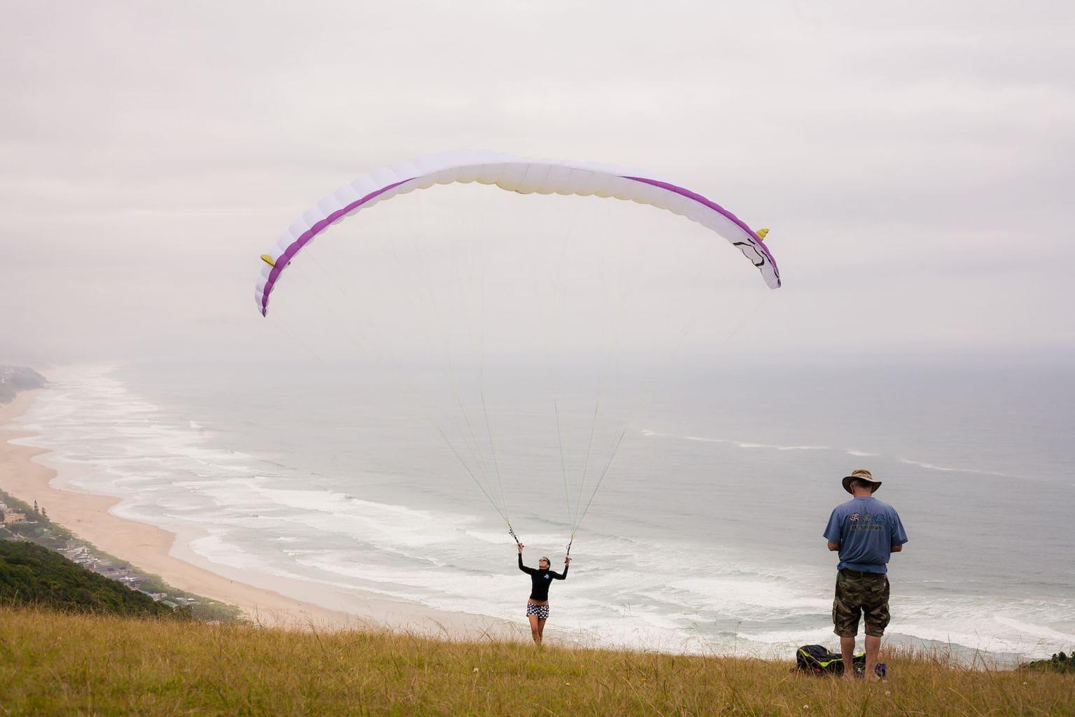 Paragliding over Wilderness Beach