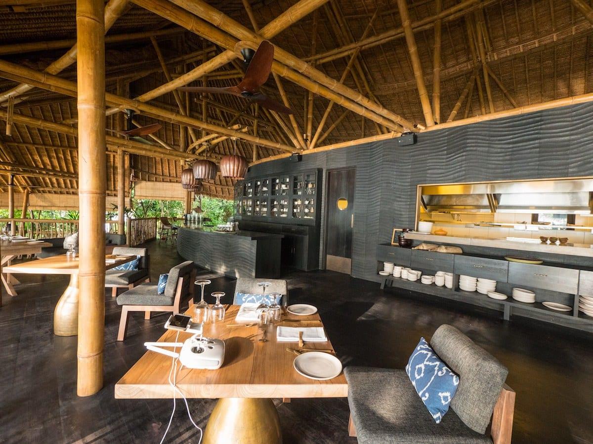 Restaurant on Cempedak Private Island
