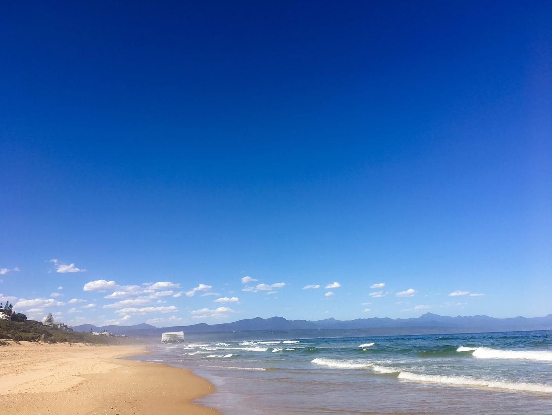 Robberg Beach with Beacon Isle Hotel
