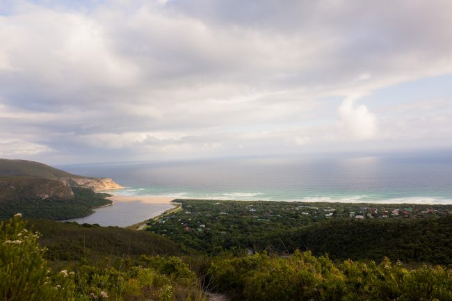 View of Nature's Valley beach from the top of the Kalanderkloof trail