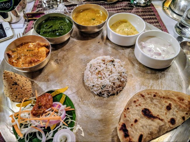 Indian cuisine on the Golden Chariot