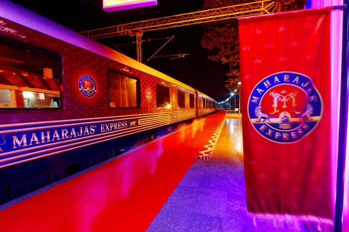 Maharajas Express at night