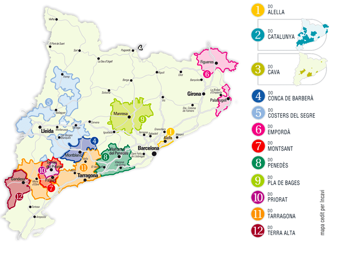 """Wine regions in Catalunya"""