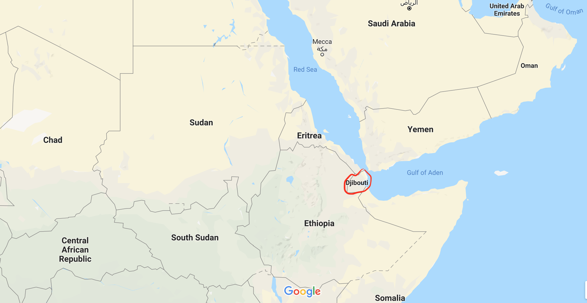 """Map of Djibouti"""