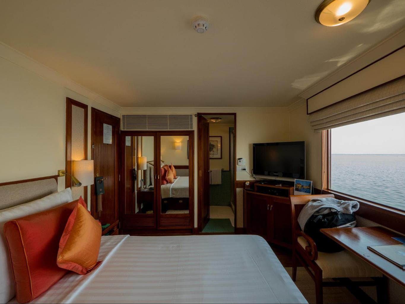 The cabins onboard The Oberoi Motor Vessel Vrinda