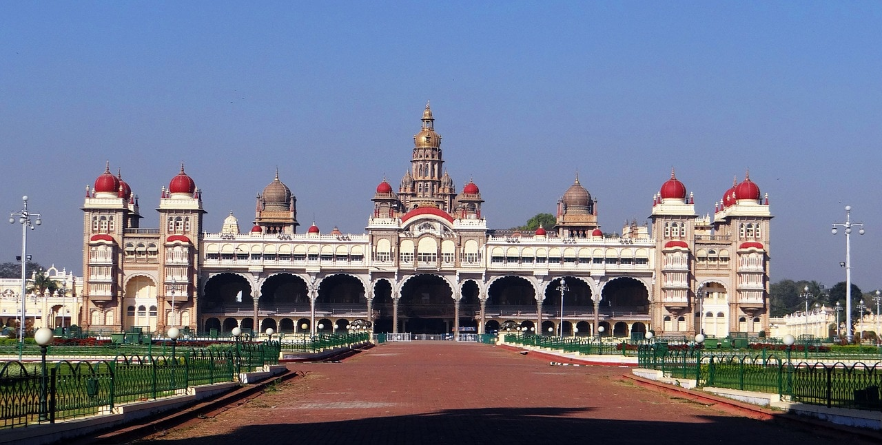 The main entrance of the Mysore Palace