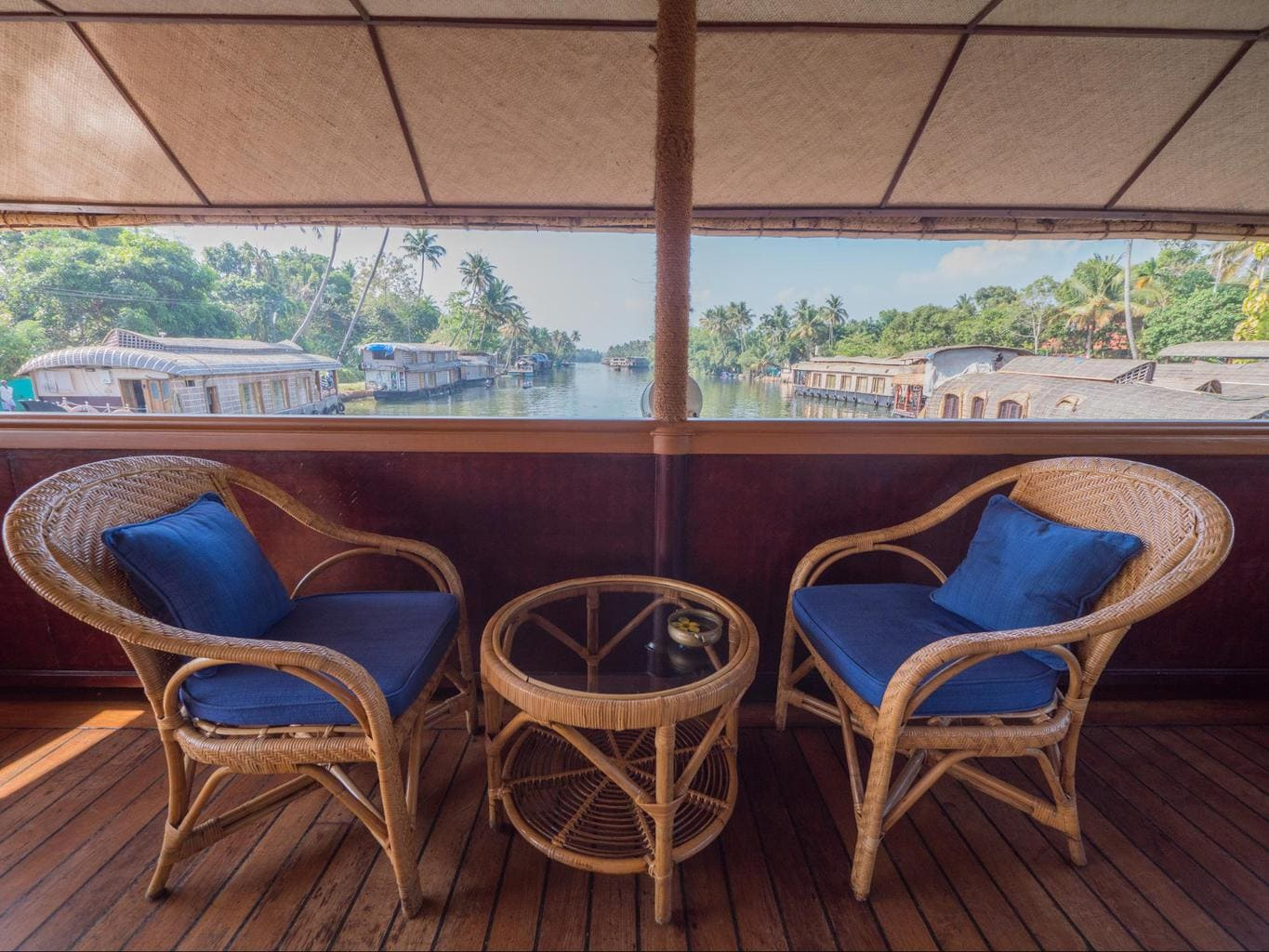 View from inside the The Oberoi Motor Vessel Vrinda