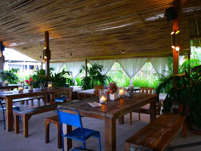 Eating area at Chalong Bay Distillery