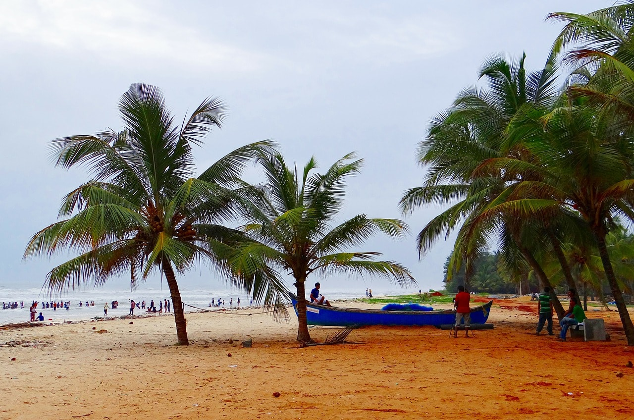 The beautiful Malpe beach in Udupi