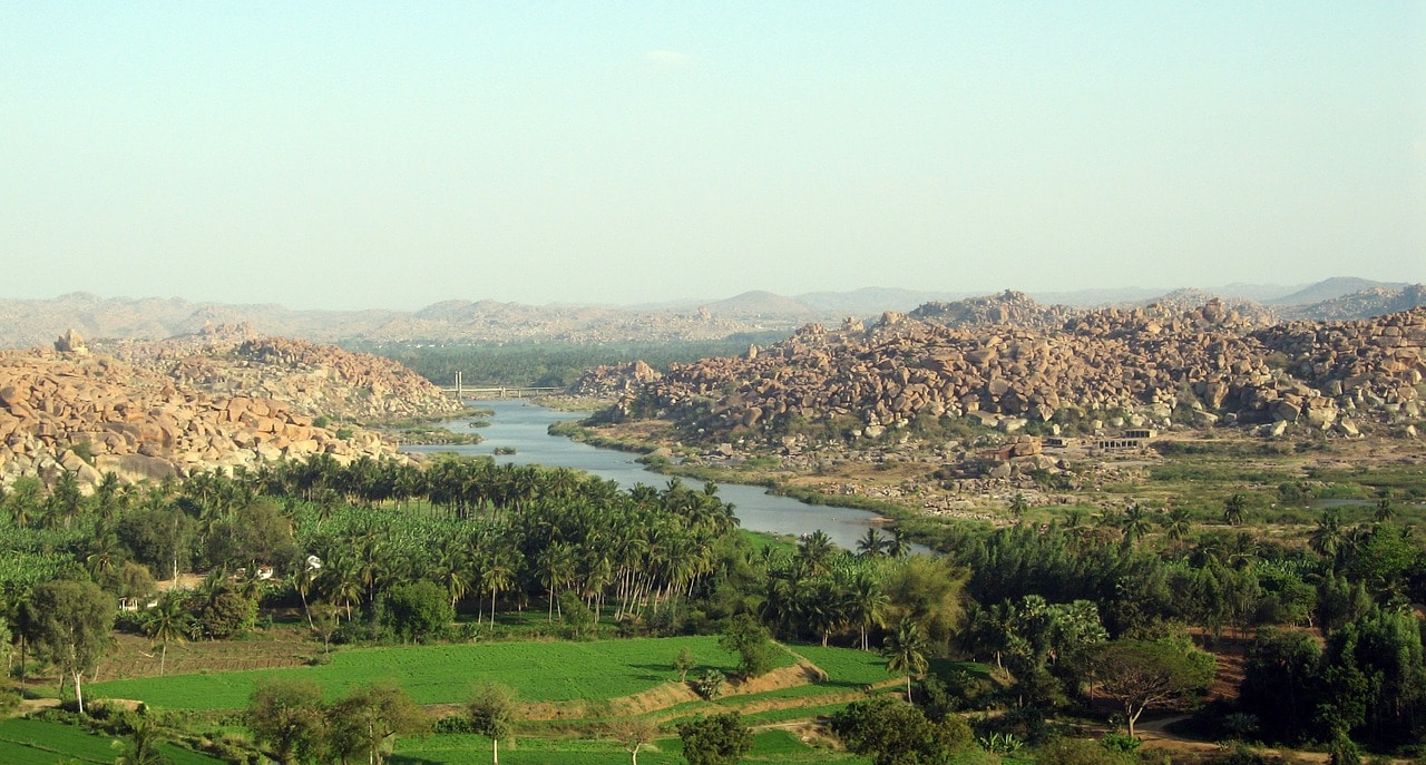 The ruins of Ancient Hampi