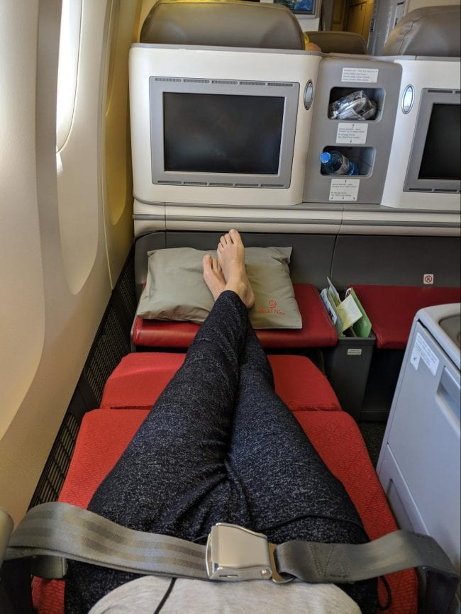 Business Class seat on Ethiopian Airlines B777-300