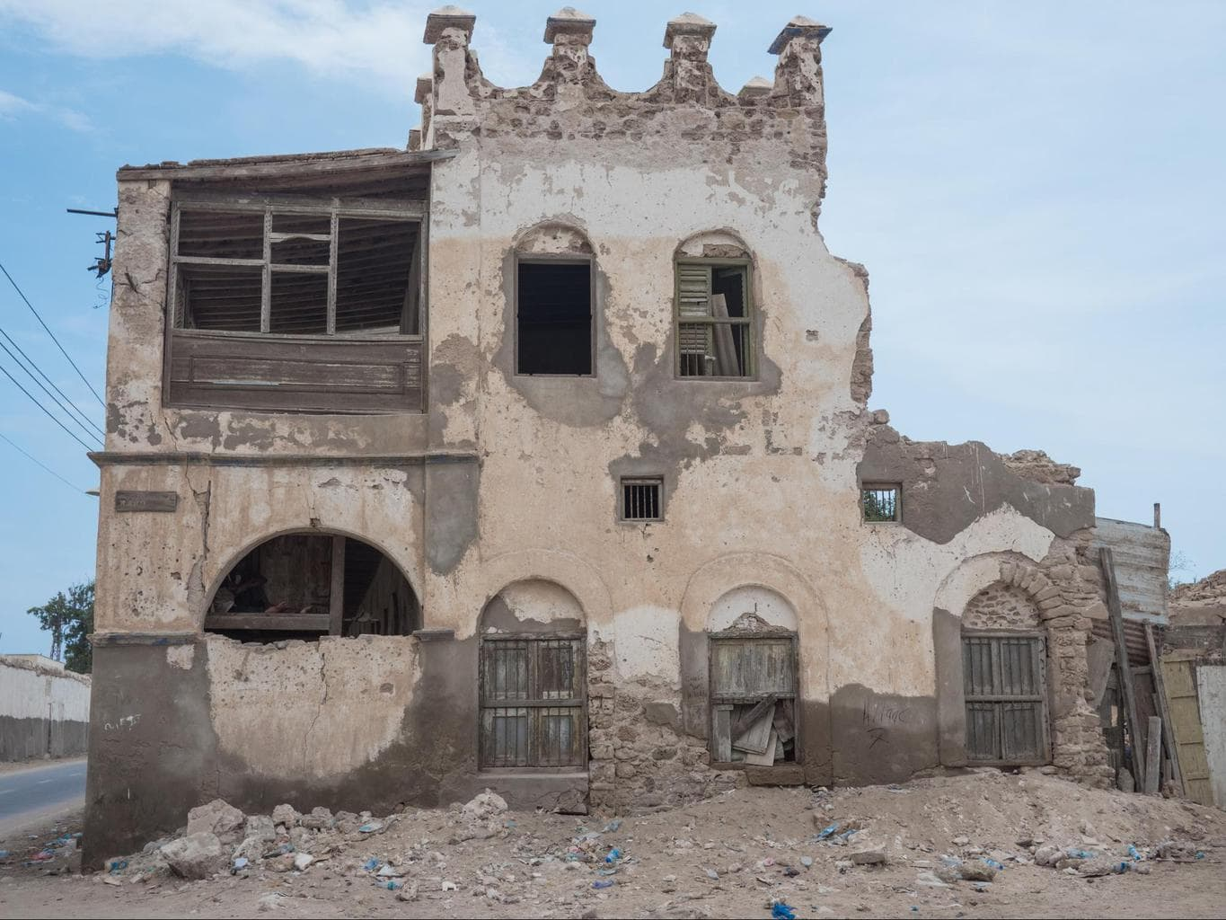 Old colonial buildings in Berbera