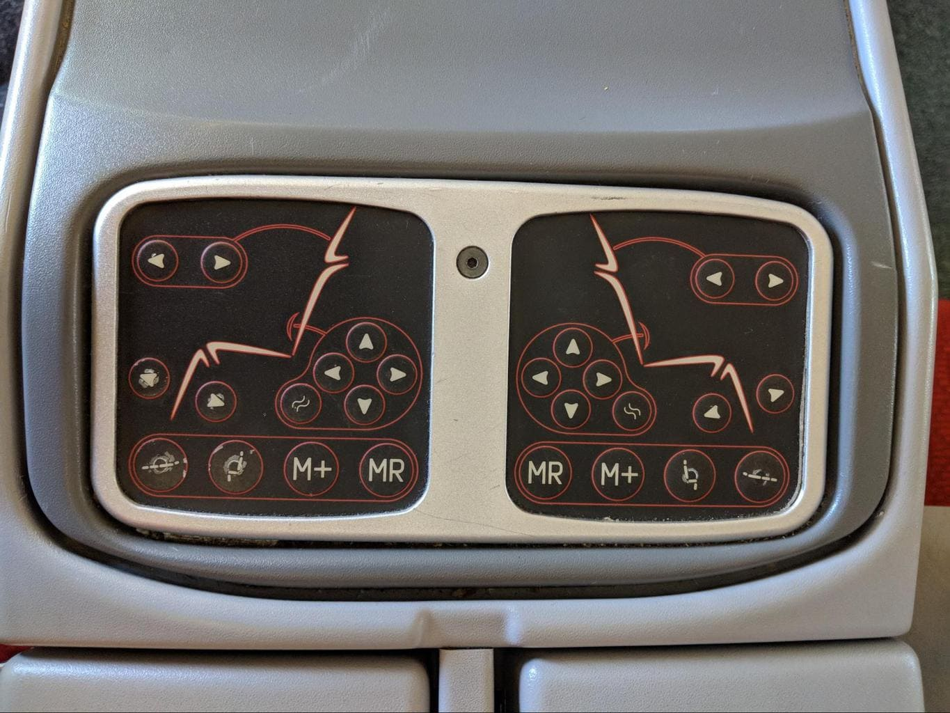 Seat management buttons