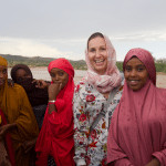 Somaliland girls piled up to chat to me