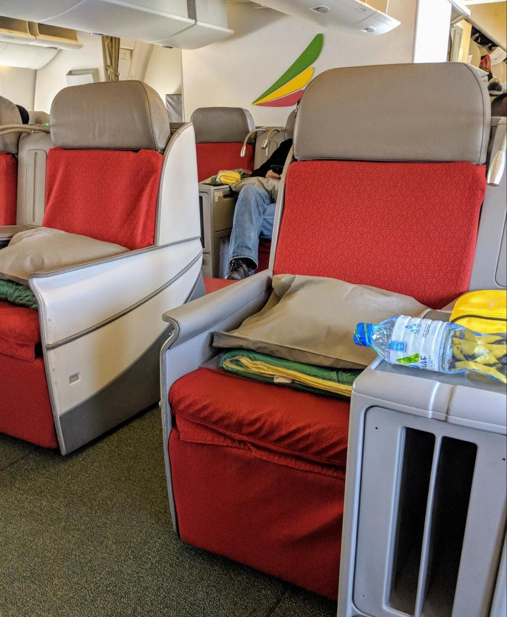 The seat onboard Boeing 777-300 Ethiopian Airlines Business Class