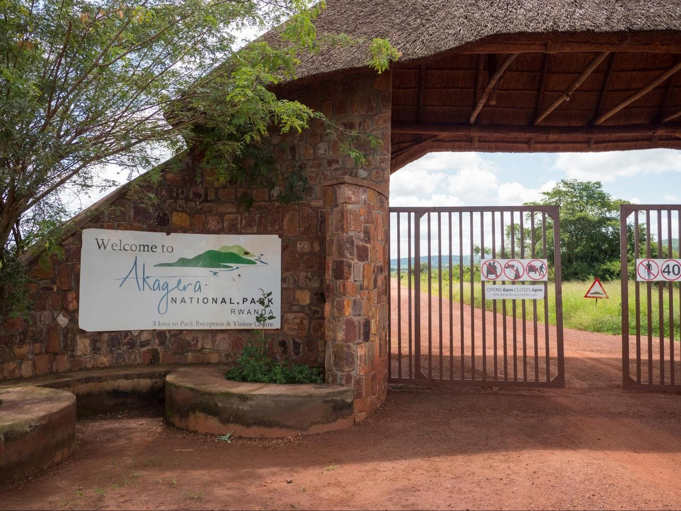 Entrance to Akagera