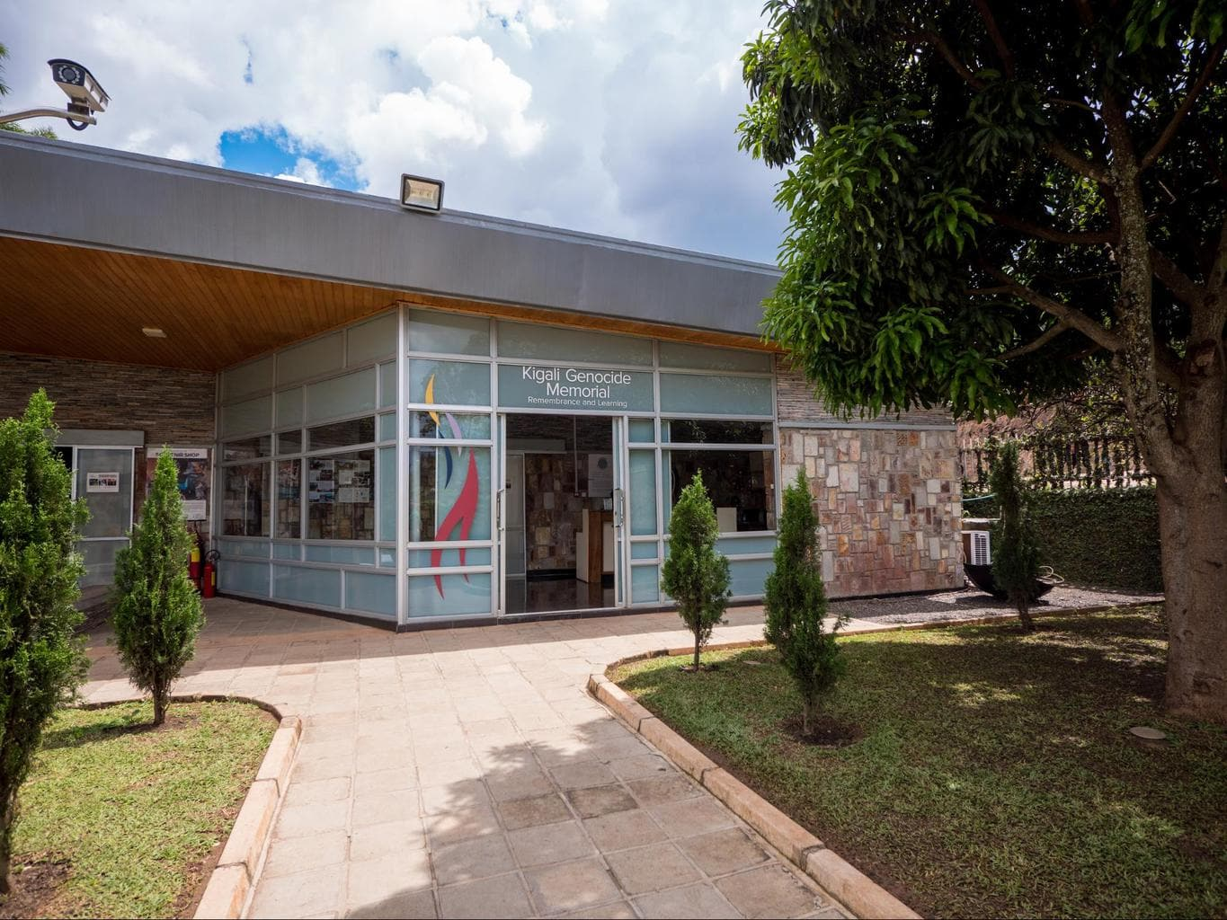 Entrance to the Kigali Genocide Memorial