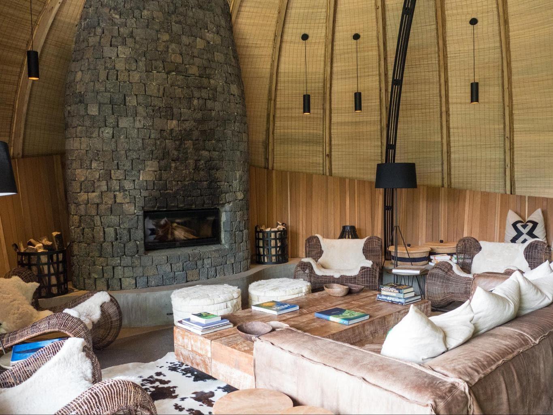Living room at Bisate Lodge